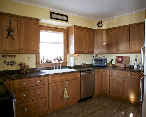 oak kitchen cabinets ideas pictures remodel and decor oak cabinet kitchen color ideas with white granite island