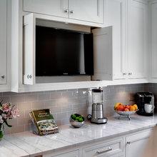 Hidden TV's in Kitchen