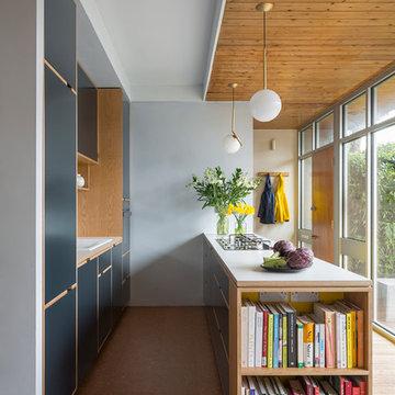 Oak Veneered Plywood Kitchen