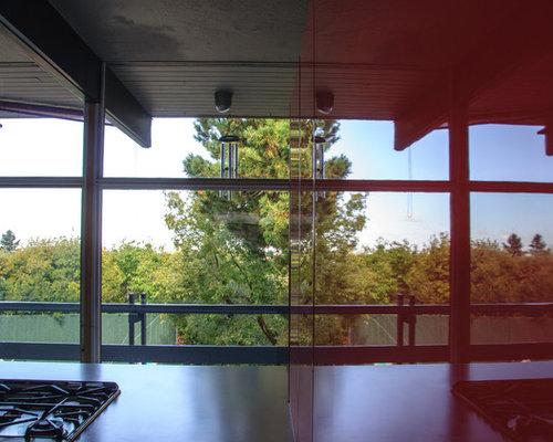 Foton och inspiration för kök i Salt Lake City, med rött stänkskydd