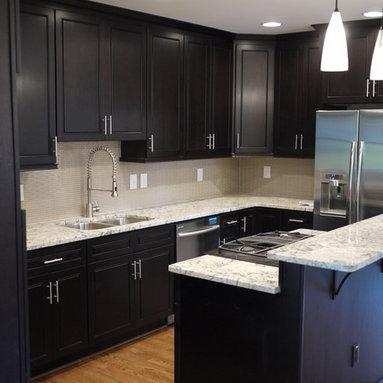 dark cabinets light granite kitchen design ideas amp photos