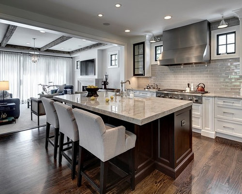 Galley open concept kitchen design ideas remodel for Open concept galley kitchen designs