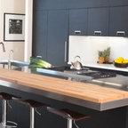 Copper Island Countertop Contemporary Kitchen By