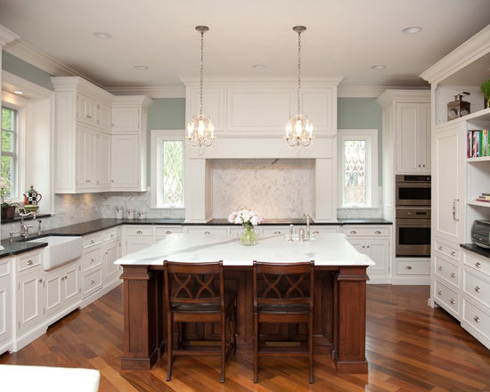 Kitchens With White Cabinets And Green Walls green walls white cabinets | houzz