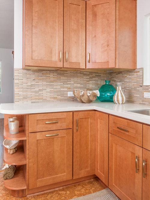 Kitchen Design Ideas Renovations Photos With White Appliances And Cork Floors