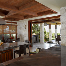 Tropical Kitchen by Applegate Tran Interiors