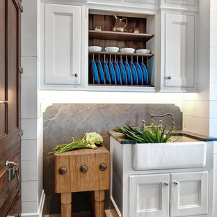 Ocean Marsh Residence- Kitchen Prep Niche and Vintage Icebox