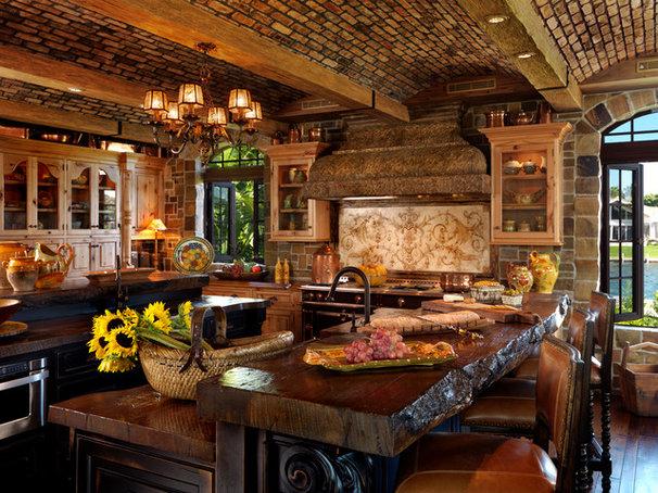 Mediterranean Kitchen by ROBERT WADE AND ASSOCIATES