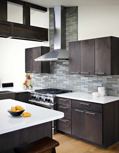 Contemporary Kitchen by Oceanside Glass & Tile