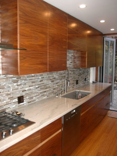 inspiration for a midsized modern galley eatin kitchen remodel in los angeles