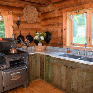 Off-the-grid Adirondack Rustic kitchen