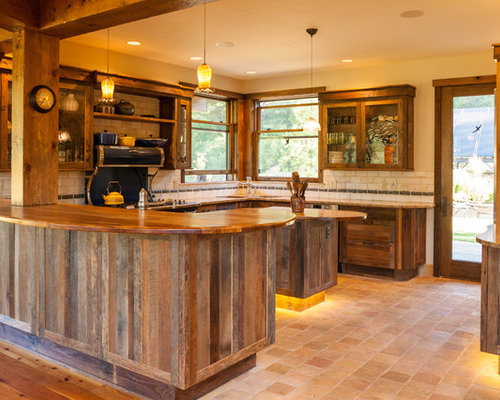 Orange kitchen design ideas renovations photos with for Timberwood custom kitchens
