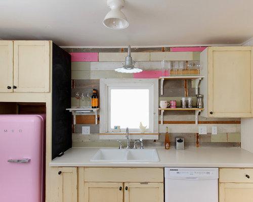 einzeilige shabby chic style k chen ideen bilder. Black Bedroom Furniture Sets. Home Design Ideas