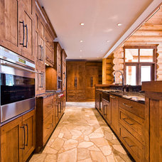 Rustic Kitchen by Sticks and Stones Design Group Inc