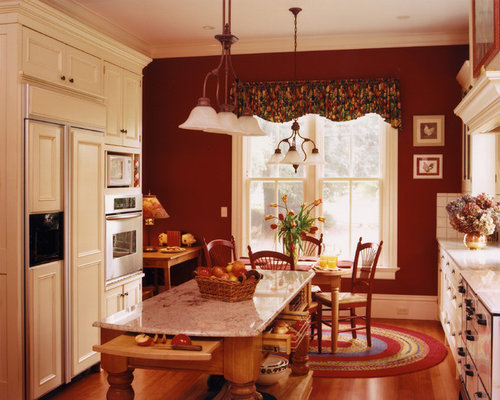 Burgundy accent wall home design ideas pictures remodel for Kitchen colors with white cabinets with sesame street wall art