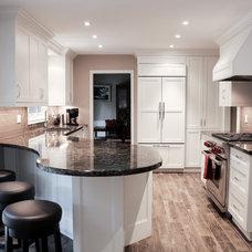 Transitional Kitchen by Oakville Kitchen and Bath Centre