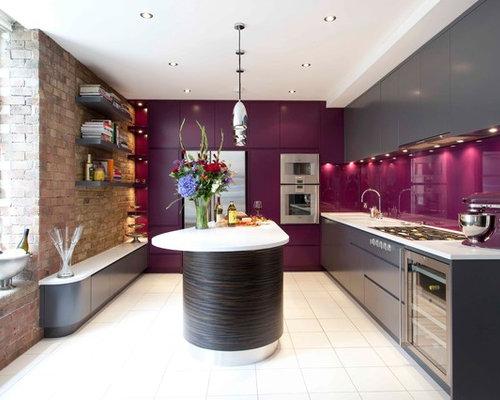 Purple Backsplash Houzz
