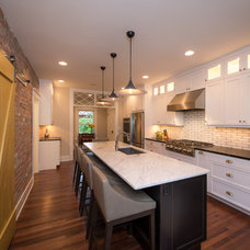 Transitional Kitchen by HighCraft Builders