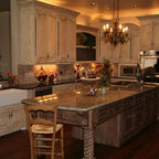 Old World Charm - Rustic - Kitchen - Oklahoma City - by Monticello Cabinets & Doors