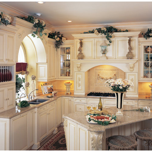 Inspiration For A Mediterranean L Shaped Kitchen Pantry Remodel In Denver  With A Double  Part 61