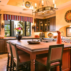 Mediterranean Kitchen by Mike Wachs Construction Co., Inc.