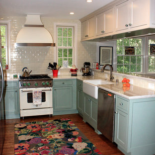 Old World Style Kitchen With New Gadgets