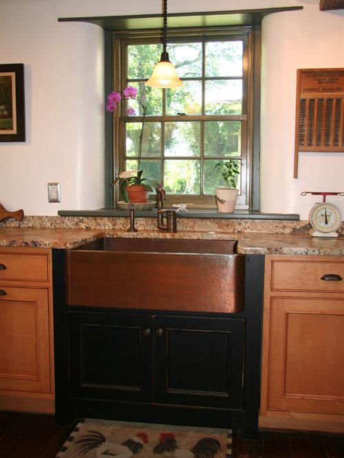 Copper Farmhouse Sink Home Design Ideas Pictures Remodel