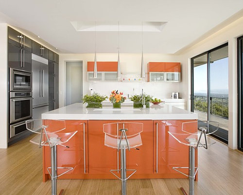 Burnt Orange Kitchen Cabinets burnt orange bar stools | houzz