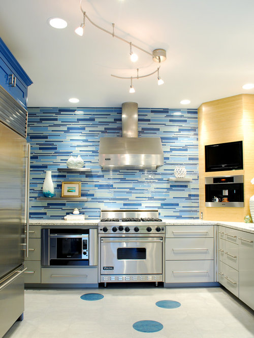 Nautical backsplash home design ideas pictures remodel for Nautical kitchen designs