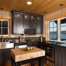Rustic Kitchen Olympia Eld Inlet Cabin Remodel and Studio Addition