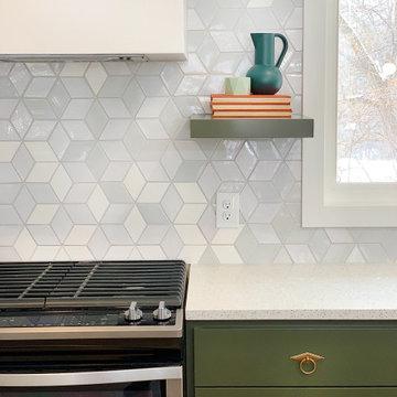Ombre White Diamond Kitchen