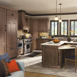 Omega Cabinetry - Dynasty by Omega - Laroche Door in Cherry with Riverbed Finish