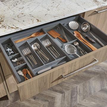 Omega Cabinetry: Kitchen Drawer Organization