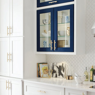 Omega Cabinetry: White and Blue Kitchen Cabinets