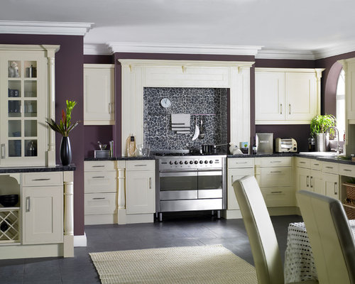 inspiration for a contemporary kitchen remodel in london - Farrow And Ball Brinjal
