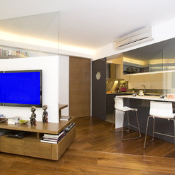 Hong Kong Wall Mounted Tv Kitchen Design Ideas Remodels Photos
