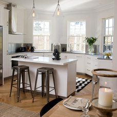 Transitional Kitchen by One Rundle Trading Company