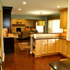 Transitional Kitchen by Sketches, an interior view LLC