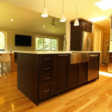 Transitional Kitchen by KraftMaster Renovations