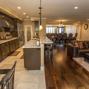 Open Kitchen Dining And Family Room Houzz