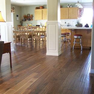 Open Concept Kitchen Featuring Garrison II Distressed - Walnut Natural
