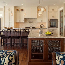 Transitional Kitchen by Fine Line Granite Ltd.
