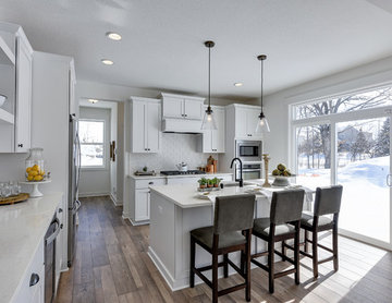Open Concept Kitchen with Large Island for Entertaining