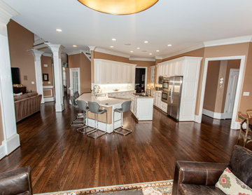 Open Floor Plan Kitchen, Dining, and Living Room