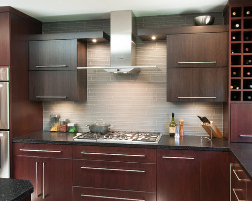 Kitchen Design Ideas Renovations Photos With Dark Wood Cabinets And Co