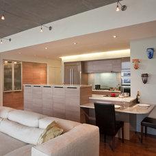 Modern Kitchen by Gary Rosard Architect