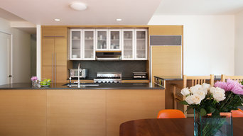 Open kitchen with ample storage