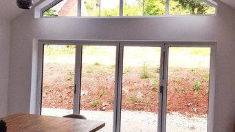 Open living glazed gable
