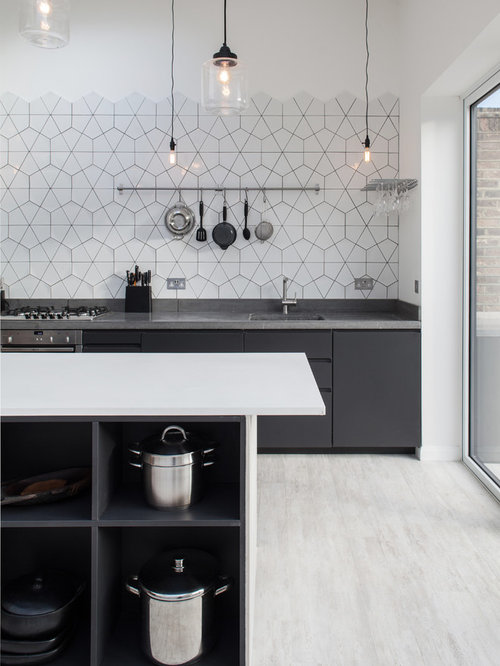 Contemporary Kitchen Pictures   Inspiration For A Contemporary Kitchen  Remodel In London With An Undermount Sink