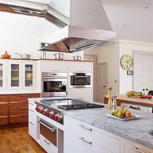 Open-plan kitchen with breakfast bar